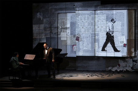 Hinterhäuser, Goerne et, en projection, Kentridge © Patrick Berger/ArtComArt