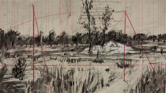 Un paysage de William Kentridge